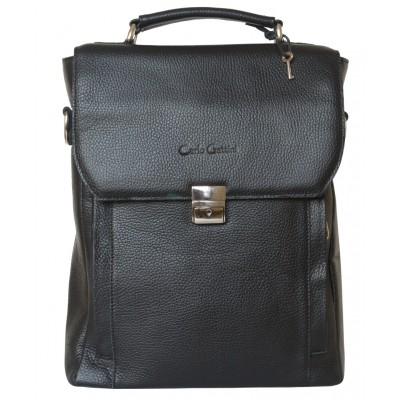 Кожаный портфель Strutto black (арт. 2015-01)