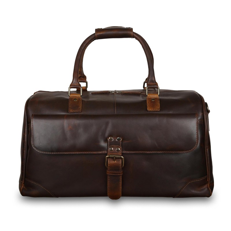 Дорожная сумка Ashwood Leather Lyndon Copper Brown