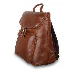 Мужской рюкзак из натуральной кожи Ashwood Leather M-51 Tan