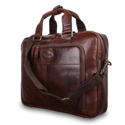Деловая сумка Ashwood Leather 8143 Brown