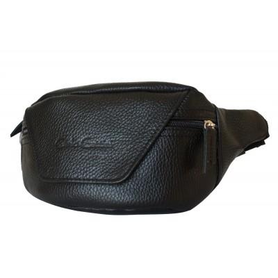 Кожаная поясная сумка Carlo Gattini Canello black (арт. 7004-01)