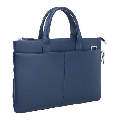 Кожаная деловая сумка Bolton Dark Blue