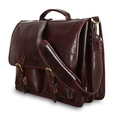 Мужской кожаный портфель Ashwood Leather 8190 Cognac