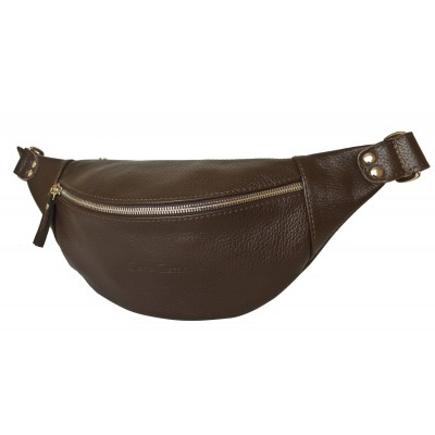 Кожаная поясная сумка Carlo Gattini Belfiore brown (арт. 7003-04)