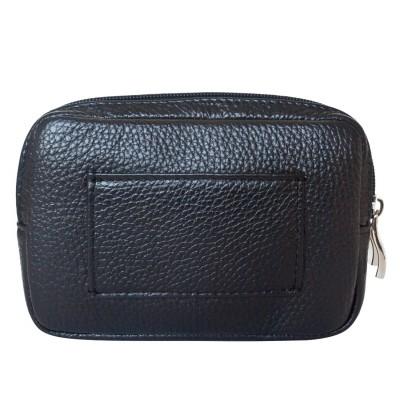 Кожаная поясная сумка Carlo Gattini Arnara black (арт. 7006-01)