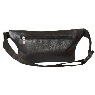 Кожаная поясная сумка Carlo Gattini Curone black (арт. 7001-01)