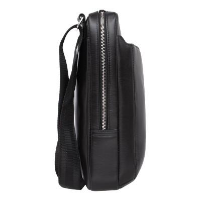 Кожаная мужская сумка через плечо Laxton Black