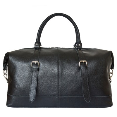 Дорожная сумка из кожи Carlo Gattini Campora black (арт. 4019-01)