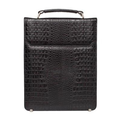 Мужской портфель из натуральной кожи Dormer Black Caiman