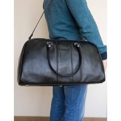 Кожаная дорожная сумка Carlo Gattini Normanno black (арт. 4007-01)