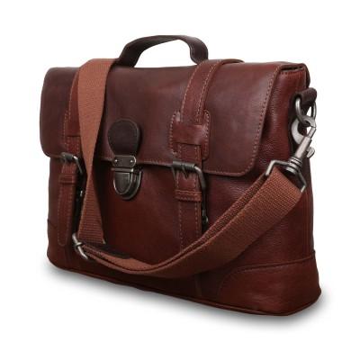 Мужской кожаный портфель Ashwood Leather  4553 Tan
