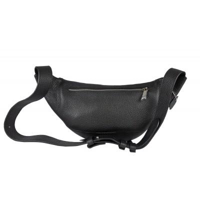 Кожаная поясная сумка Carlo Gattini Vicenne black (арт. 7013-01)