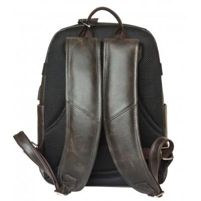 Мужской рюкзак из натуральной кожи Carlo Gattini Falcone brown (арт. 3074-04)