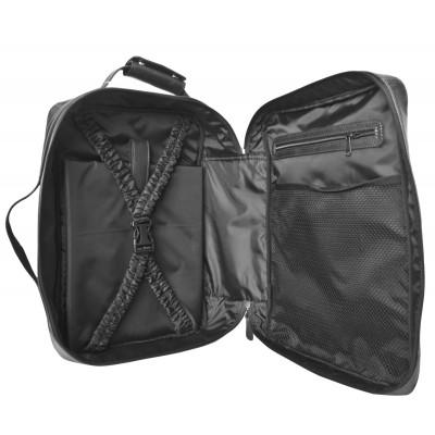Кожаный рюкзак-трансформер мужской Carlo Gattini Chatillon black (арт. 3072-01)