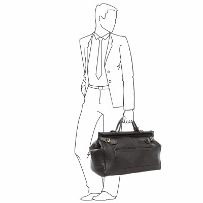 Дорожная сумка  Ashwood Leather Gladstone Dark Brown