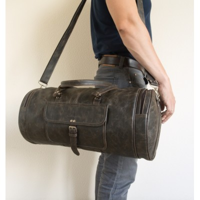 Кожаная дорожная сумка Carlo Gattini Belforte brown (арт. 4011-04)