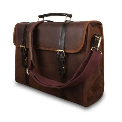 Кожаный портфель для документов Ashwood Leather Walter Tornado