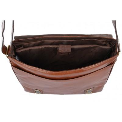 Сумка через плечо Ashwood Leather Jasper Chestnut Brown