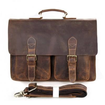 Мужской портфель из натуральной кожи GAJIN MATT