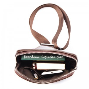 Кожаная мужская сумка через плечо JULY