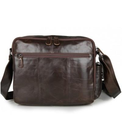 Мужская сумка через плечо из кожи APERTO