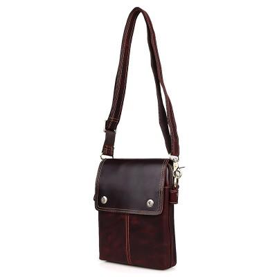 Кожаная мужская сумка через плечо Djo Mogano