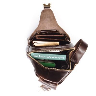Мужской рюкзак из натуральной кожи HOWARD