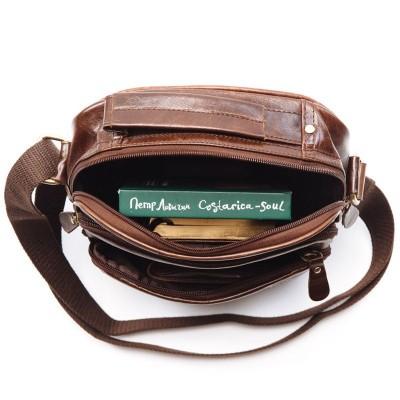 Мужская сумка через плечо из кожи TELLIO