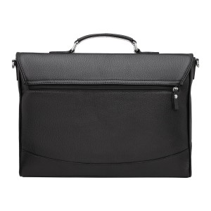 Мужской портфель из натуральной кожи Dorman Black