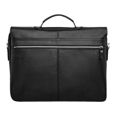 Кожаный портфель для документов Kingsway Black
