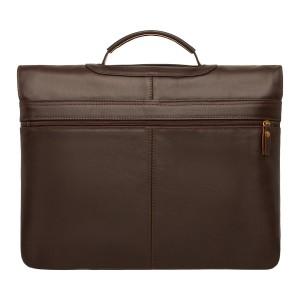 Мужской кожаный портфель Kingsway Brown