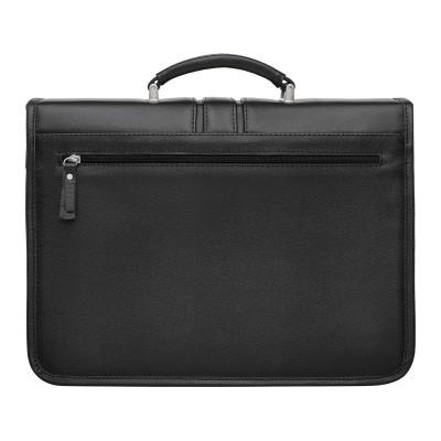 Кожаный портфель для документов Lugard Black