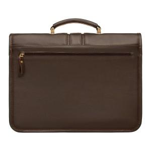Мужской кожаный портфель Lugard Brown