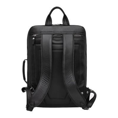 Мужской рюкзак из натуральной кожи Agat Black