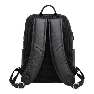 Мужской рюкзак из натуральной кожи Carlos Black