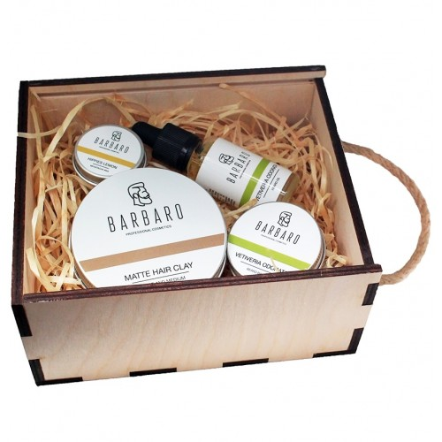 Barbaro Travel Set - Подарочный набор для бородача