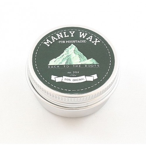 Manly Wax Оriginal - Воск для усов, мята-бергамот 15 гр