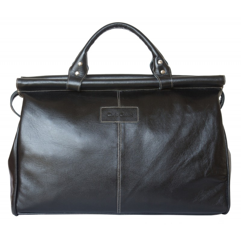 Кожаный саквояж Carlo Gattini Veano black (арт. 4004-01)