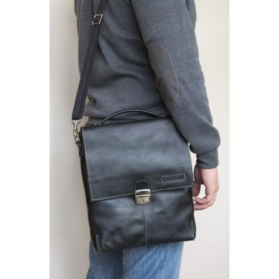 Кожаный мужской планшет Cavazzo black (арт. 5004-01)