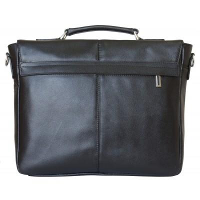 Кожаный портфель мужской Fontevivo black (арт. 2005-01)
