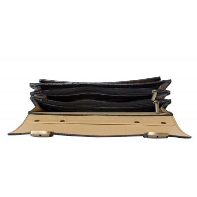 Кожаный портфель мужской Corfino black (арт. 2008-01)
