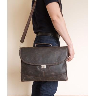 Кожаный портфель мужской Ferrada brown (арт. 2006-04)