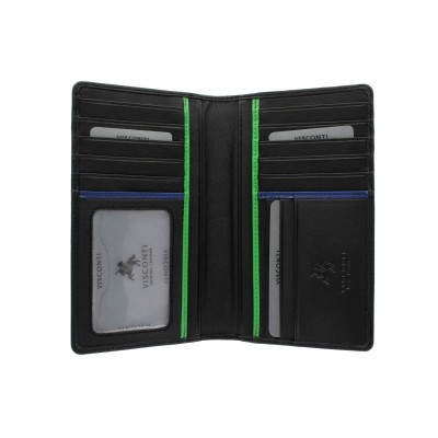 Бумажник Visconti BD12 Jaws Black/Cobalt/Green