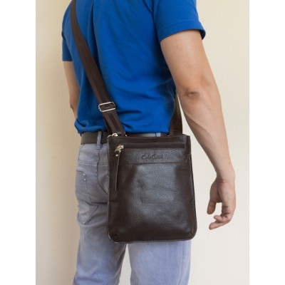 Кожаная мужская сумка через плечо  Saltara brown (арт. 5021-04)