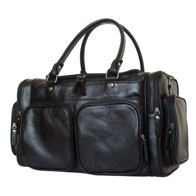 Кожаная дорожная сумка Carlo Gattini Bufaloro black (арт. 4012-01)