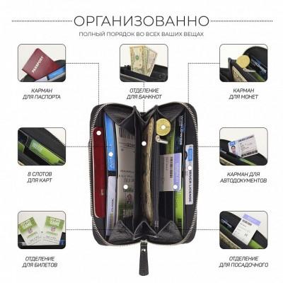 Мужской клатч с отделением для телефона BRIALDI Techno (Техно) relief black
